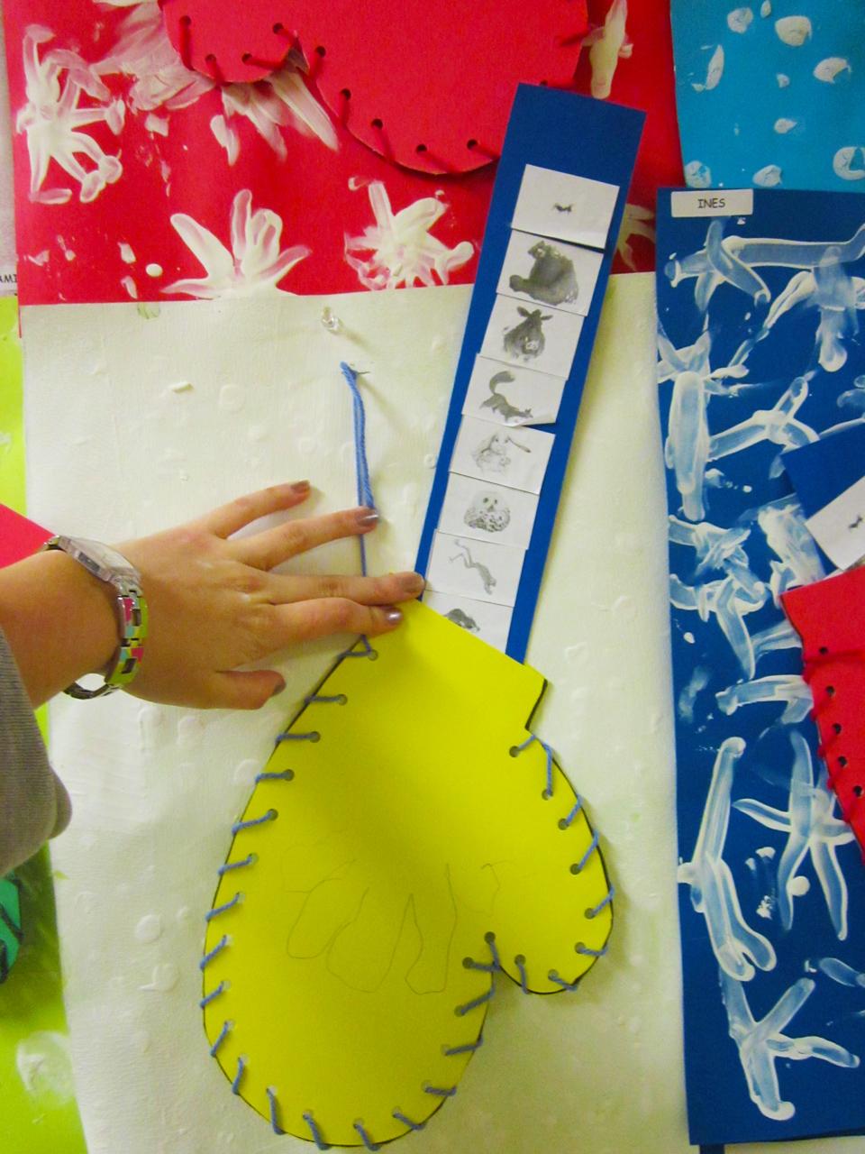 large choix de couleurs dessin de mode  Projet d'art : La moufle – Une instit de plus